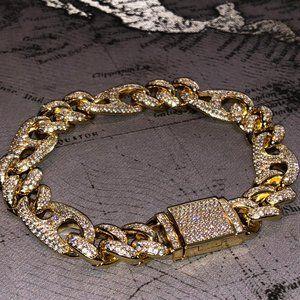 Other - 14 k gold finish Cuban designer link bracelet